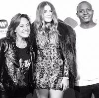 Claudia Brant, Sofia Reyes, Neff-u at Sofia´s record release party Sofitel (February)