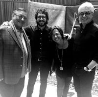 Arturo Sandoval, Josh Groban, Claudia and Greg Fields-Capitol Studios Los Angeles