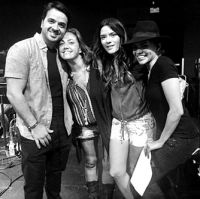 Luis Fonsi, Claudia, Kani Garcia, Leslie Grace Latin Songwriters Hall of Fame rehearsals-Miami