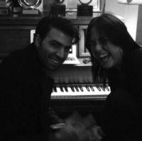Jencarlos Canela, Claudia Brant- Writing Session, Brantones Records studio, Los Angeles 2014
