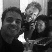 Luis Fonsi, Noel Schajris, Claudia Brant-Studio sessions, Miami