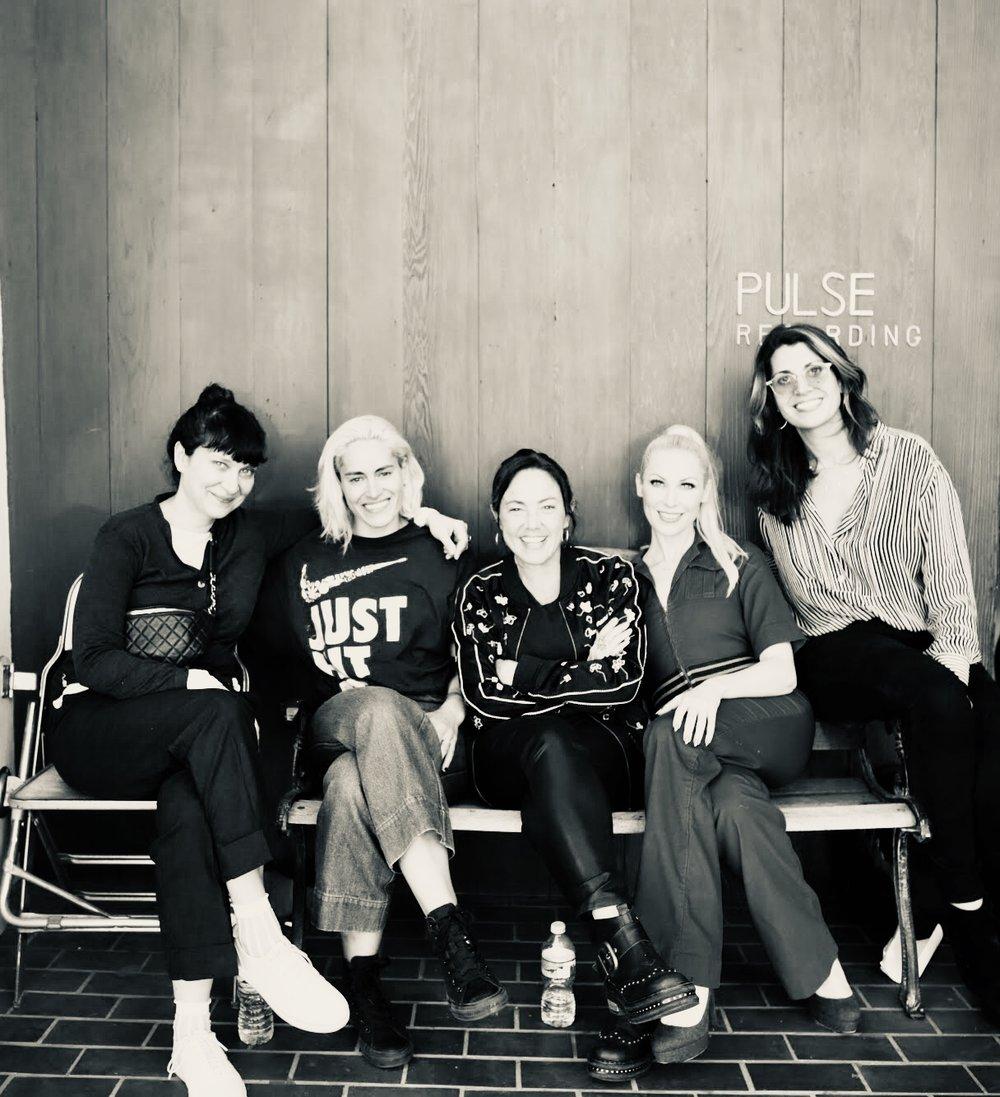 Sam Wilcox, Jenn Decliveo, Claudia Brant, Bonnie Mc Kee, Maria Egan. Community Reboot panel. Pulse studios, Los Angeles, Sept 2018