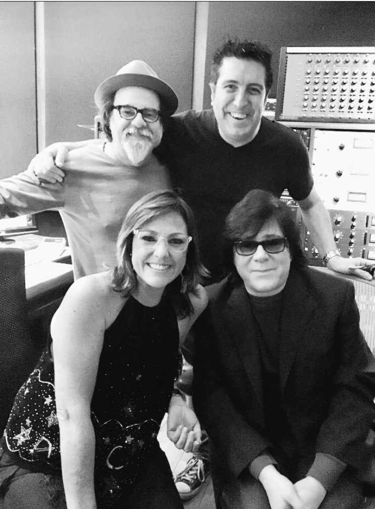 "Moogie, Cheche Alara, John Titta ( head of Ascap membership) Claudia Brant. East West studios while recording "" Sincera"".January 2018"