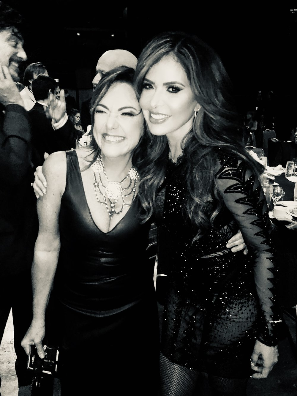 Claudia Brant, Gloria Trevi, LSHF Gala, Miami, octubre 2018