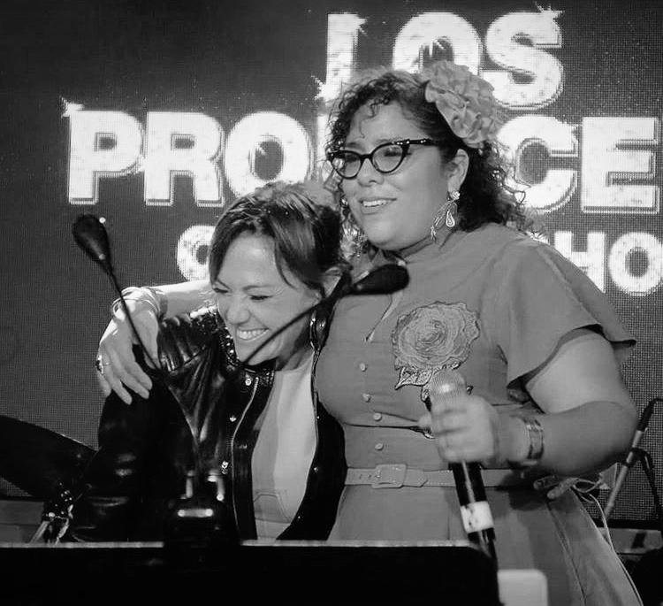Claudia Brant y La Marisoul actuando en la Gala TheProducers de los Latin Grammys Nov 2018