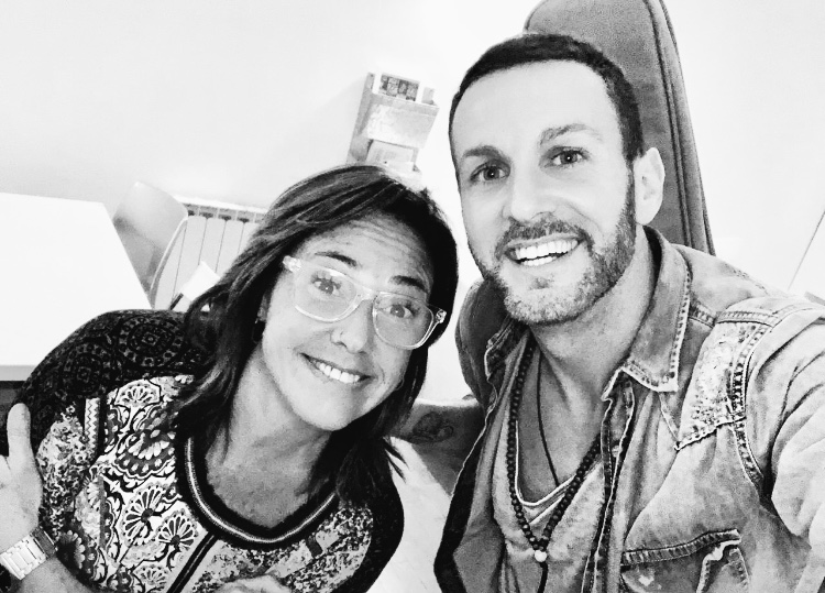 Claudia Brant and Axel, writing session, Buenos Aires - Feb 2019