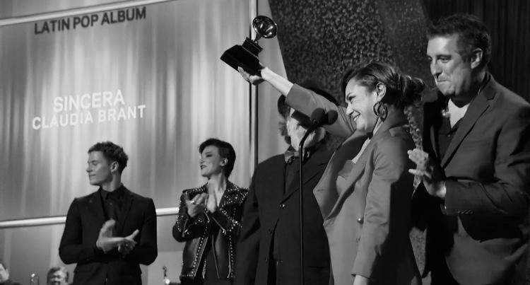 Moogie Canazio, Claudia Brant, Cheche Alara, Grammys 2019, Ganadora de Mejor Album Pop Latino, Los angeles - Feb 2019