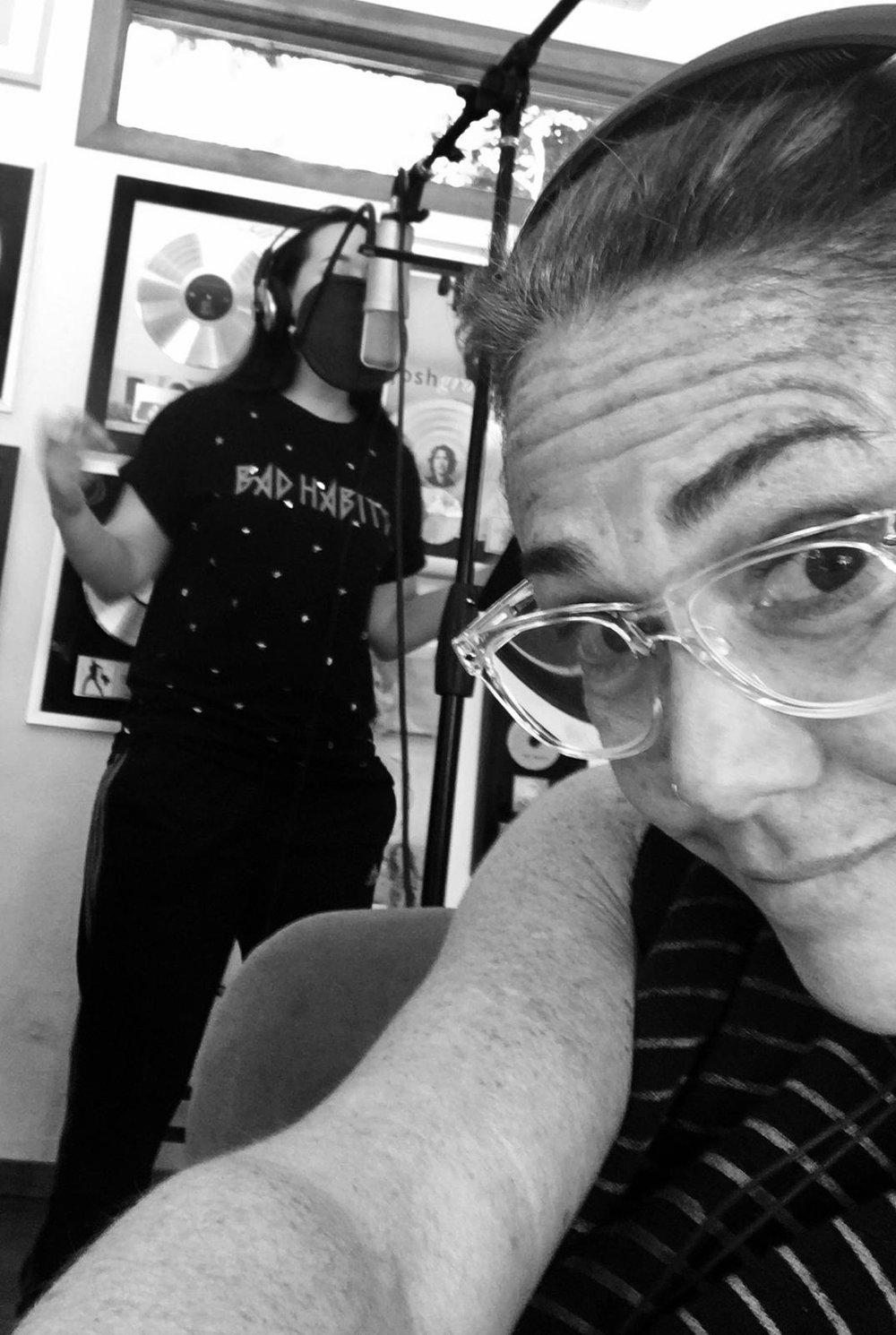 Claudia Brant, Victoria La Mala recording session at the studio