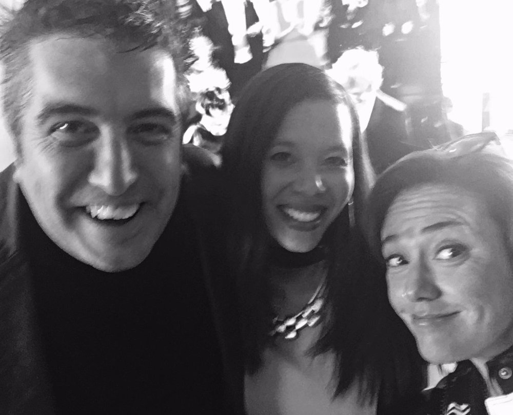 Cheche Alara, LA Chapter's Kelly Purcell, Claudia Brant, Grammy 2017 nominee reception