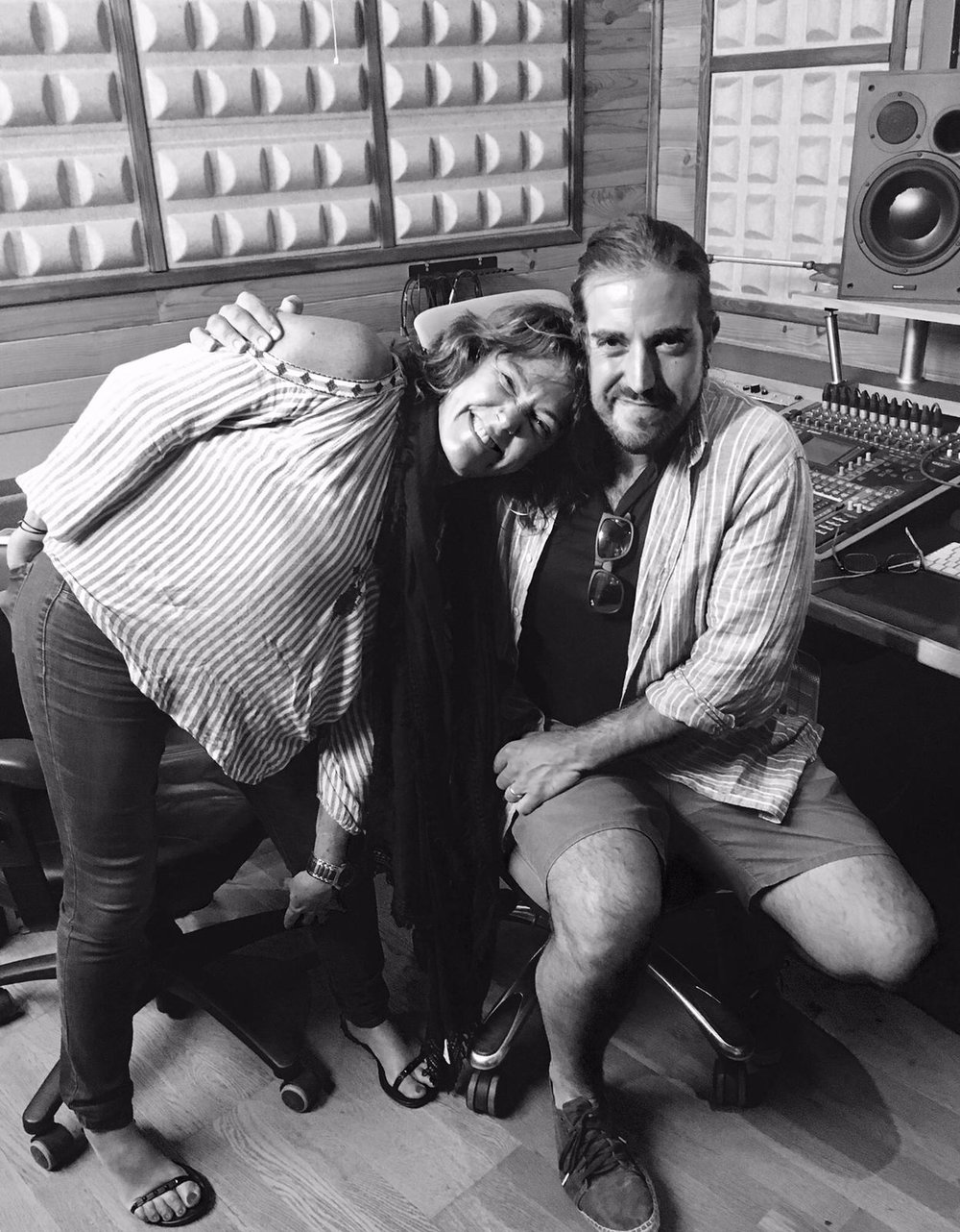 Claudia Brant, Andrés Suarez songwriting session Madrid