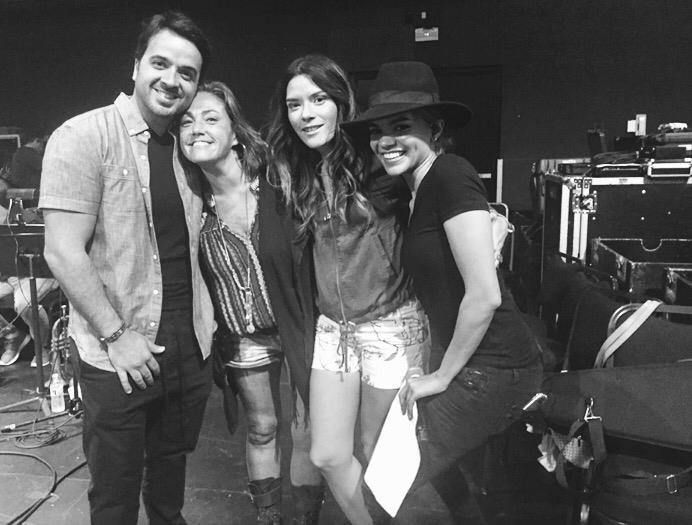 Luis Fonsi, Claudia Brant, Leslie Grace Latin Songwriters Hall of Fame. Rehearsal Miami