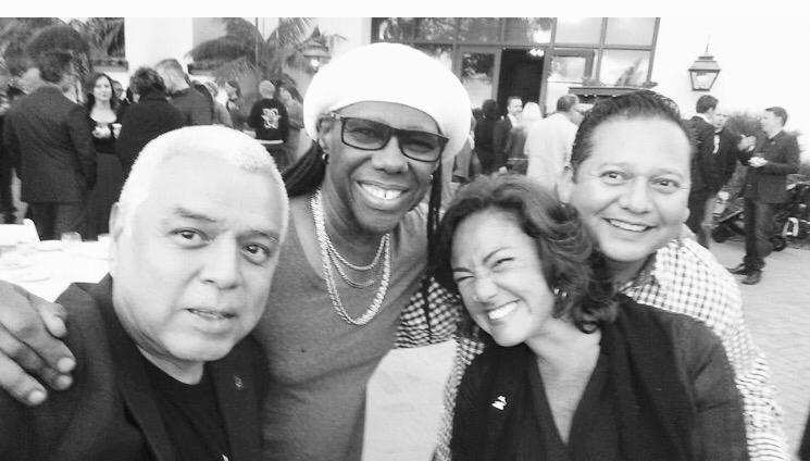 Nile Rodgers, CLaudia Brant, Carlos Alvarez Springs NARAS trustees meetings Palos Verdes