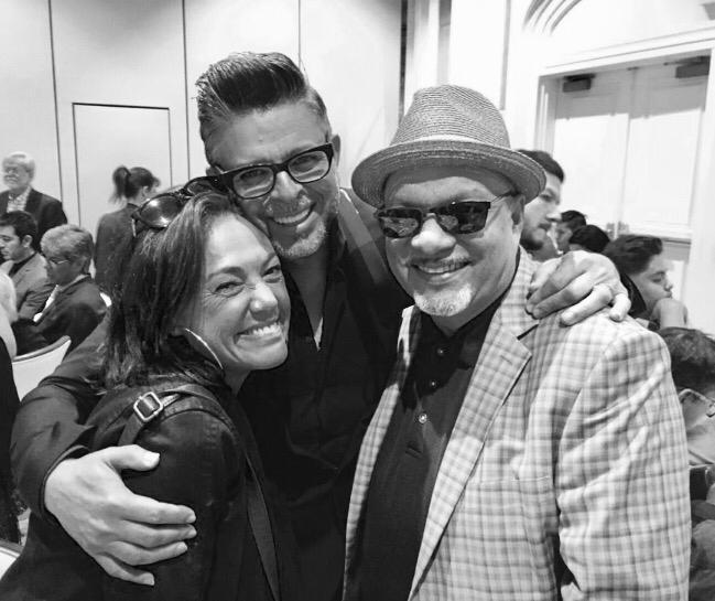 Claudia, Luis Enrique, Omar Alfano. Latin Grammys
