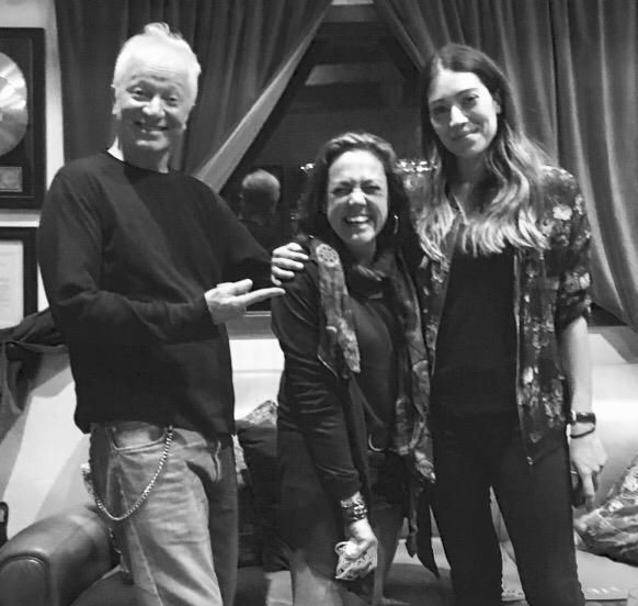 Fauston Donato, Claudia, Valentina Parisse at the studio