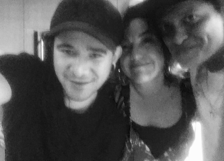 Skrillex, Claudia Brant y Bruno Mars