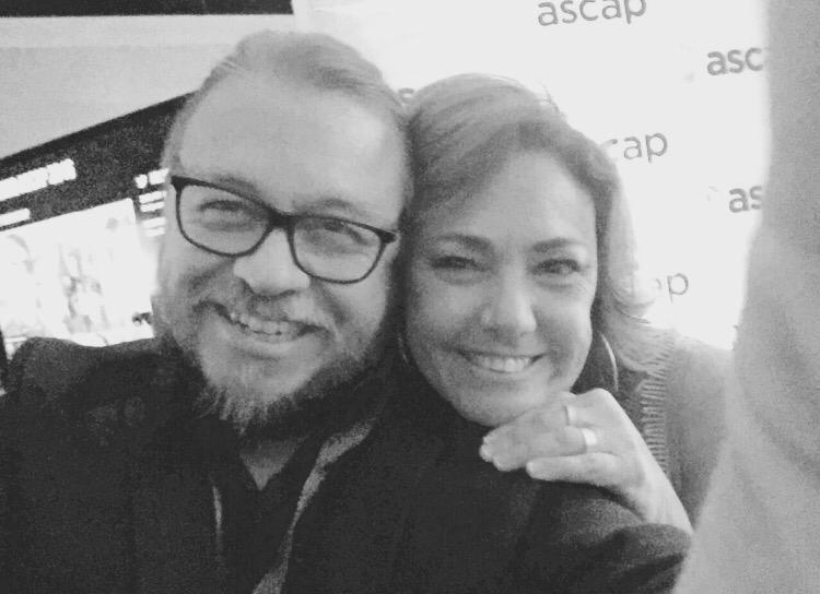 Fernando Osorio y Claudia Brant.  Premios ASCAP Latina. Miami