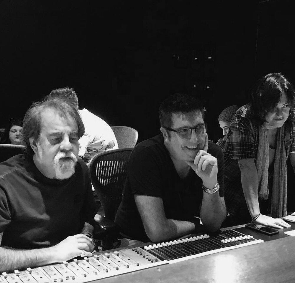 """Moogie Canazio, Cheche Alara and CB """"Sincera"""" session EastWest Studios LA"""