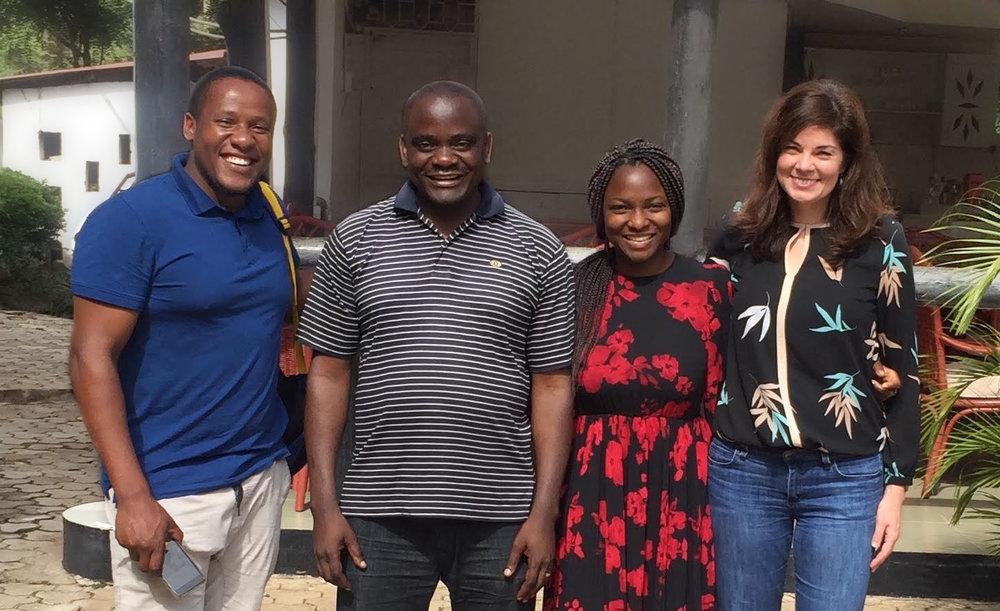 Tanzania: GHES Mentor Prosper Pendo Njau MD MP,Researcher Michael Mahande PhD MPH,UC Berkeley GHES fellow Omobola Mudasiru DrPH (2017-2018), GHES Mentor Sandra McCoy PhD MPH.