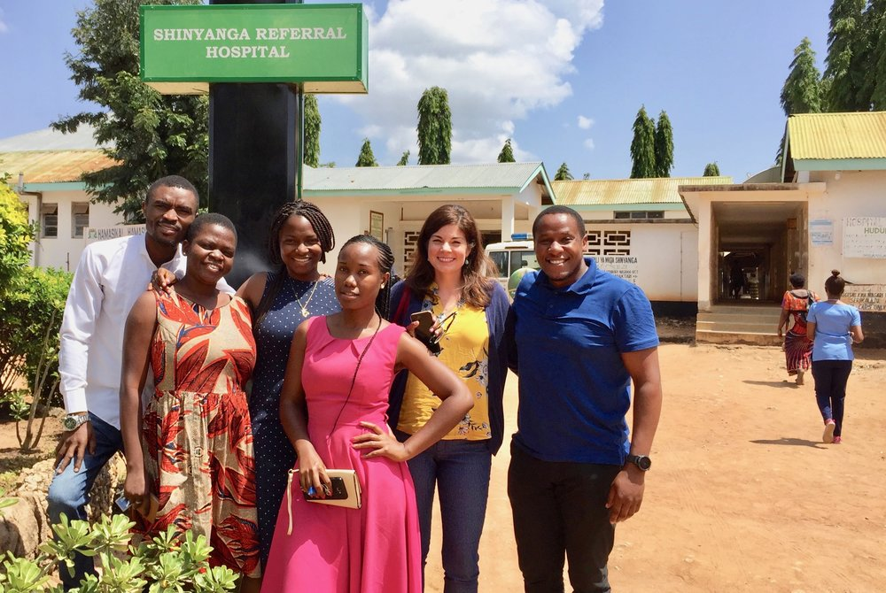 Members of the UC Berkeley research team at the Shinyanga Regional Hospital, Tanzania, July 2018.