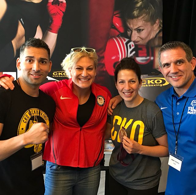 We are fans!!!! Check out @judokayla Her speech was phenomenal and her coach @jimmypedrousa was equally amazing when he spoke What an amazing experience . #ckofitfam #ckoconvention2018 #mma #bjj #work #grind #hustle #fit #gym #nyc #ufc