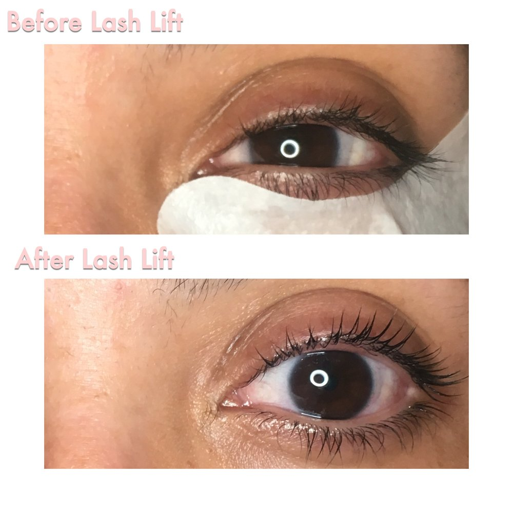 Lash Lift - A semi-permanent treatment that gives your natural lashes the illusion of perfectly curled lashed with added definition. It is a great alternative to lash extensions and can last 6-8 and even 12 weeks. Elleebana Lash Lift use a unique technique combining a lifting lotion and silicone rods to lift your natural lashes, making them look longer and fuller!PLEASE ARRIVE TO YOUR APPOINTMENT COMPLETELY FREE OF EYE MAKE UP! Also, you must stop usage of waterproof mascara at least 2 days prior to your Lift! Schedule with a friend back to back for added savings!