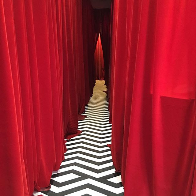 At the TwinPeaks Roadhouse pop up on Melrose. If I disappear do everything you can to find me.  I'm trying to kill two birds with one stone. #twinpeaks #roadhouse #davidlynch #gordoncole #thefireman #redroom #blacklodge #seeyouin25years
