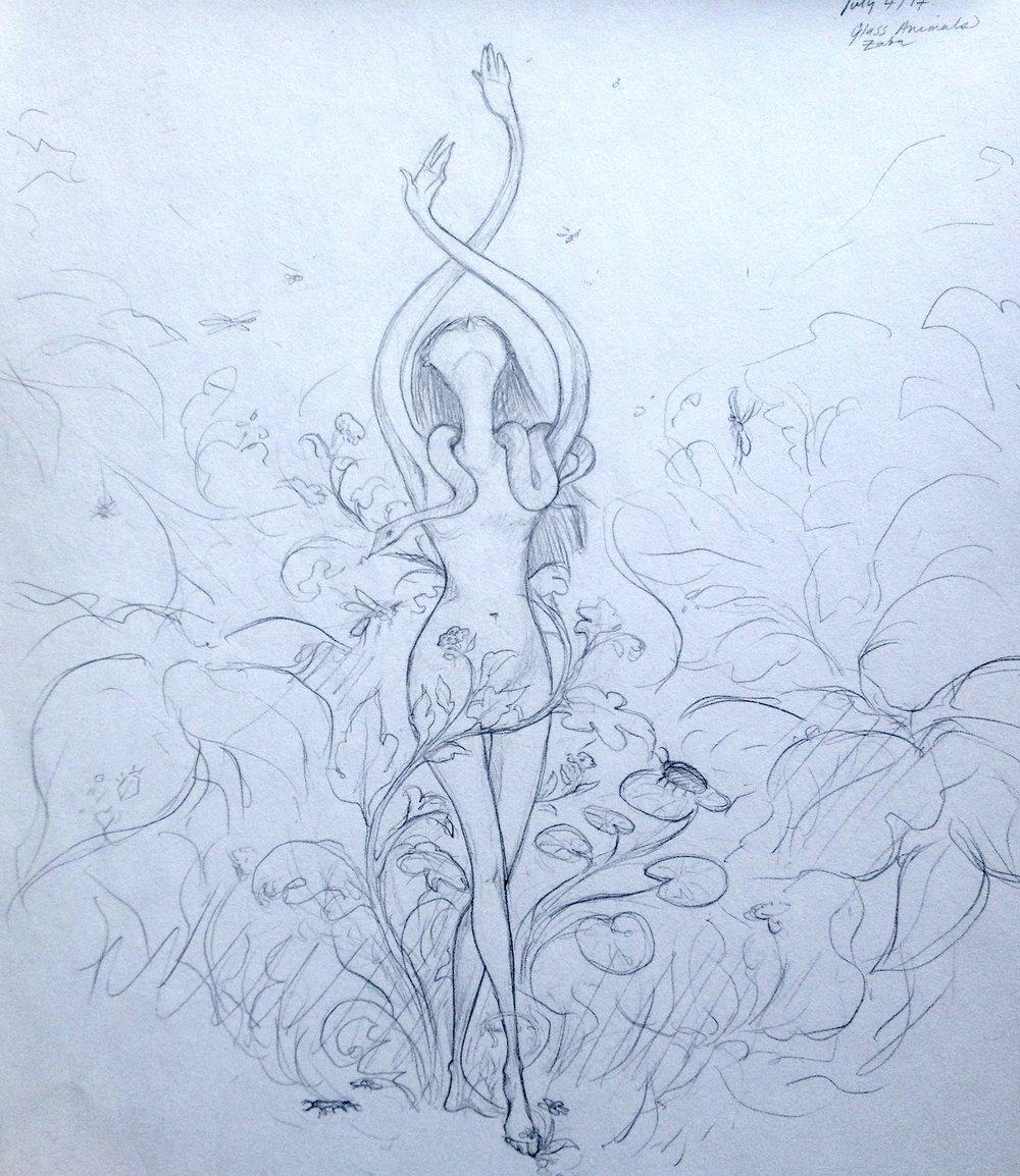 Drawn to Zaba, the Glass Animals album.
