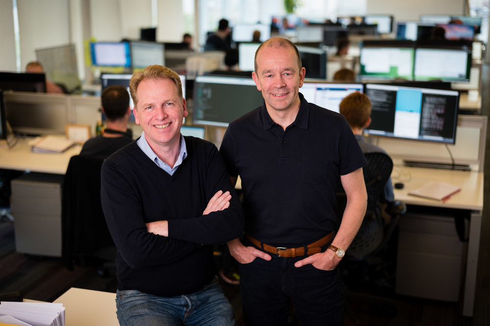 Graphcore's co-founders Nigel Toon & Simon Knowles