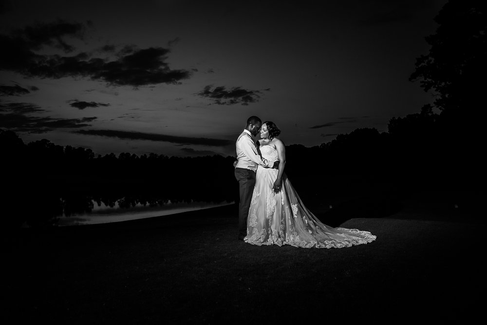 Raleigh wedding photography B and W picture