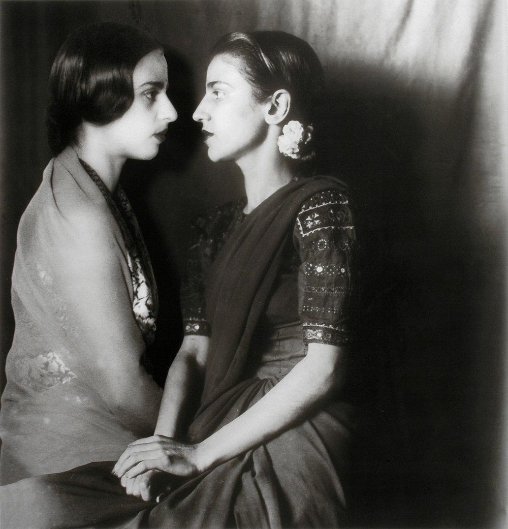 """Vivan Sundaram,  Sisters Apart , 2001 from """"Re-Take of Amrita"""""""