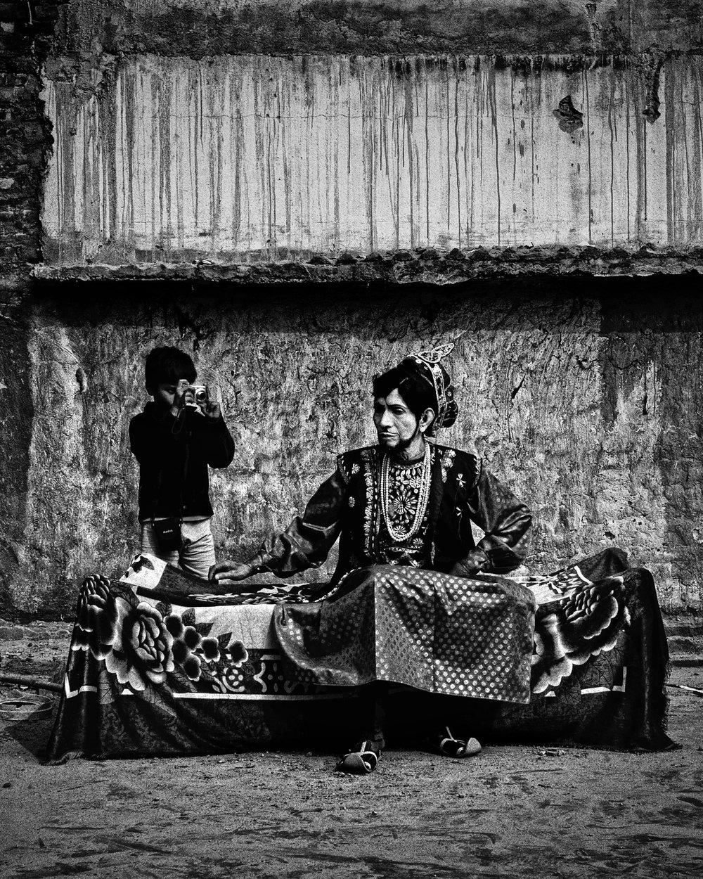 "Soumya Sankar Bose,  Dhirendra Nath Dihidar, Gokulpur, India,  2014 from ""Let's Sing an Old Song"""