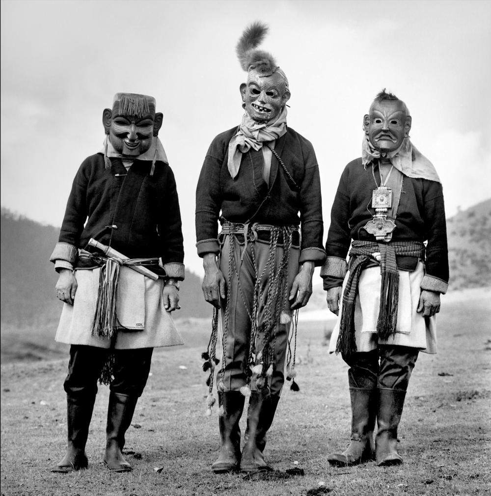 "Serena Chopra,  Yak Cham performers in Merak village,  2006 from ""Bhutan: A Certain Modernity"""