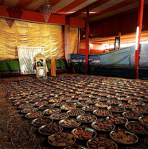 Martin Brading, Sri Ji Baba's Tent, Chappan Bhog, Allahabad, Uttar Pradesh , 2001
