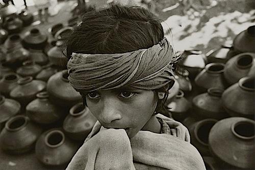 Boy with Pots , Chota, Udaipur, 1968