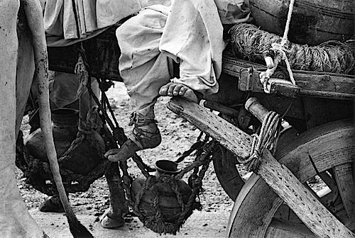 Peasant's Foot on Cart , Bhuj, Kutch, 1968
