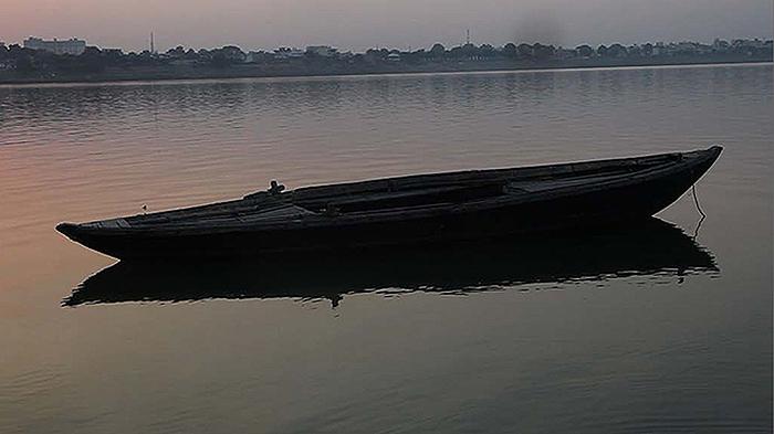 Atul Bhalla,Still from  Adrift (On Dvaipayana) , 2014, Three-Channel Video Projection.