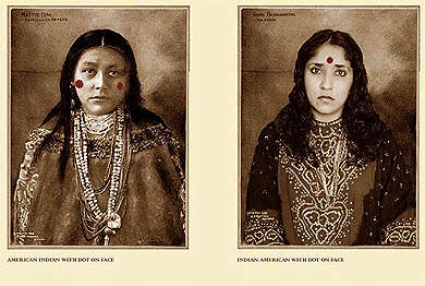 Annu Palakunnathu Matthew, American Indian with Dot on Face / Indian American with Dot on Face , from  An Indian from India , 2001-2007
