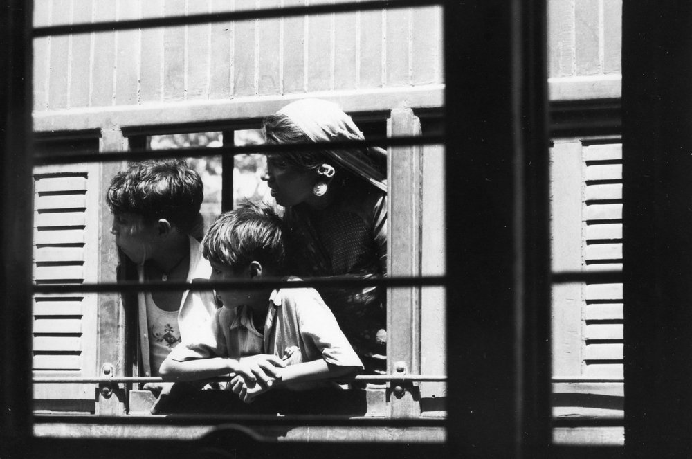 Family Looking out Train Window, Sikkim , 1959-1965