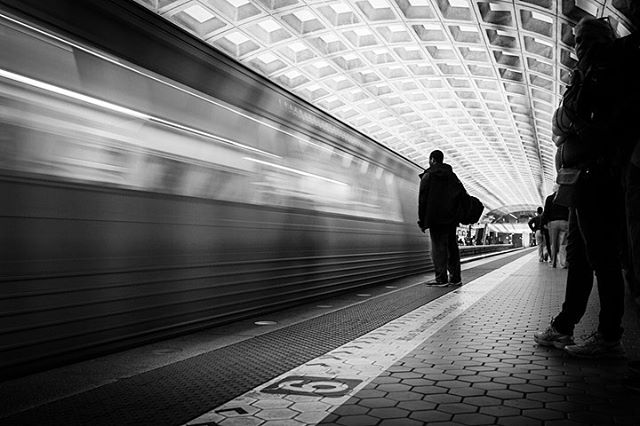 One of my favorite things about being a documentary photographer is the challenge it presents to find beauty and artistry in life's otherwise mundane moments | Gallery Place / Chinatown Metro | Washington, DC #dcphotographer #dcphotography #dcmetro #metrodc #silhouette