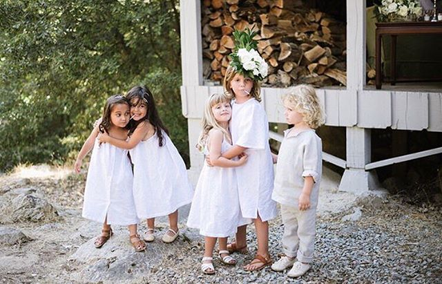 Flashback of these beautiful kids all wearing custom Bridal Saxon + Sunra for @__paw's beautiful river wedding. It doesn't cuter than this.