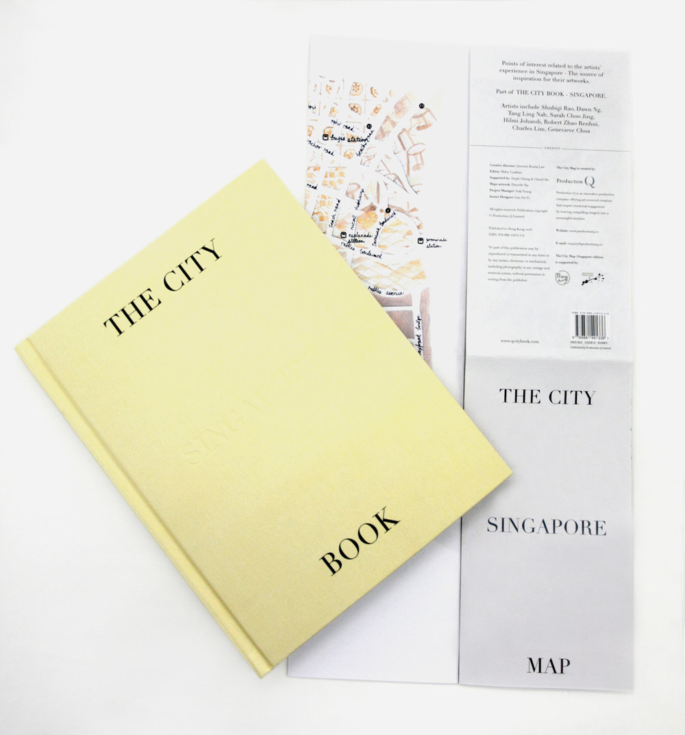 the city book and map - singapore