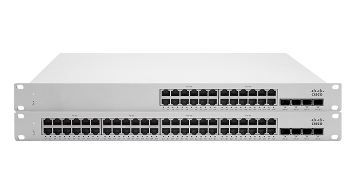 Cisco Meraki MS Switches - Popular Products:MS120, MS220, MS225, MS250, MS350
