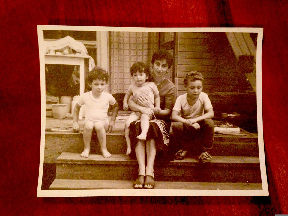 roma, mama, me & igor/ben, at the dacha 1986