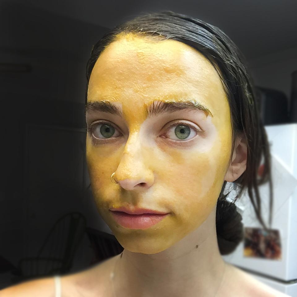 Turmeric Egg Mask