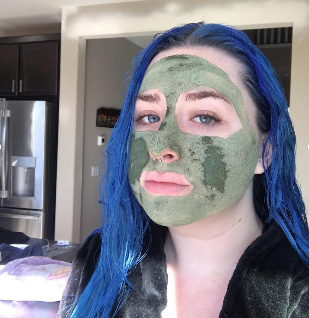 Wearing Serpentine Mask