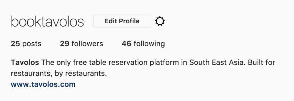 Adding Tavolos to Instagram