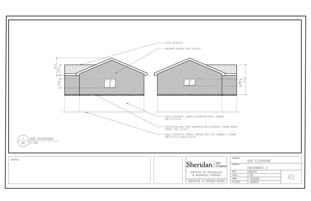 House model working drawings sr designs a5 right and left elevations ccuart Image collections