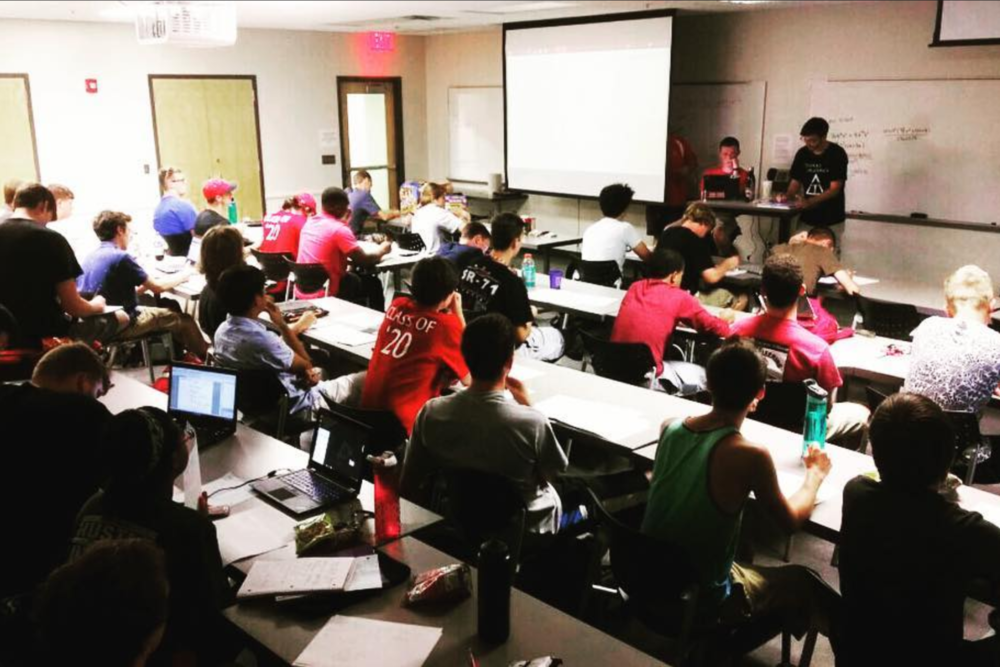 Academics - We have weekly sessions where we try to help brothers develop study skills and maintain a credible scholastic record. We currently have a 3.165 Cumulative GPA. The average GPA of our incoming new members for the past two years has been above 3.3 and highest among other  fraternities.