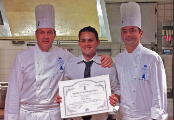 """French Finishing School - Hand selected to join the 2011 """"Hautes Etudes du Gout""""culinary program,I studied advanced culinary theory through the University of Reims in Champagne, France.One of only 18 students,I attended lectures on subjects like """"The aroma of taste in cooking"""" by leading theologians and enjoyed meals prepared by some of the finest French chefs. My understating of the table as a showcase for family, culture and culinary art deepened as a result."""