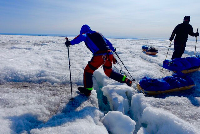 Day 5:  Another day jumping crevasses.